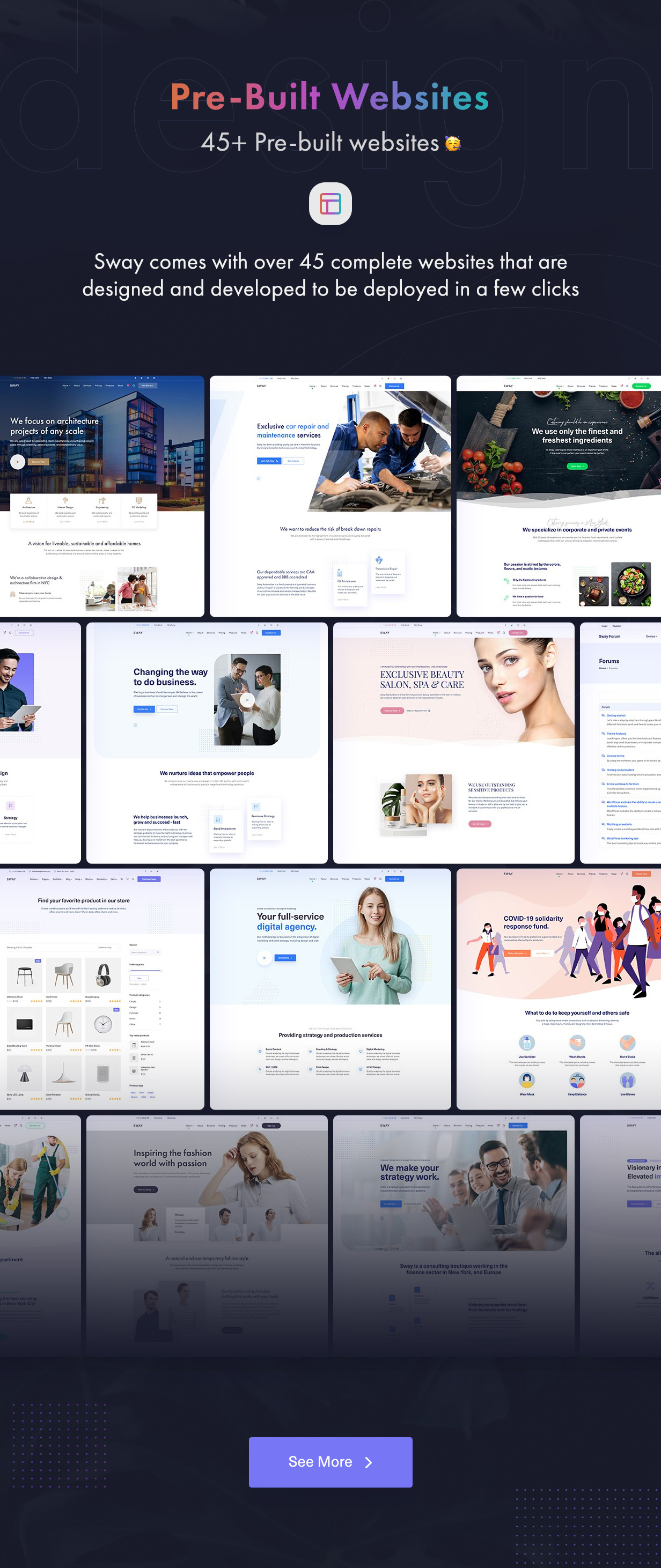 Sway - Multi-Purpose WordPress Theme with Page Builder - 4