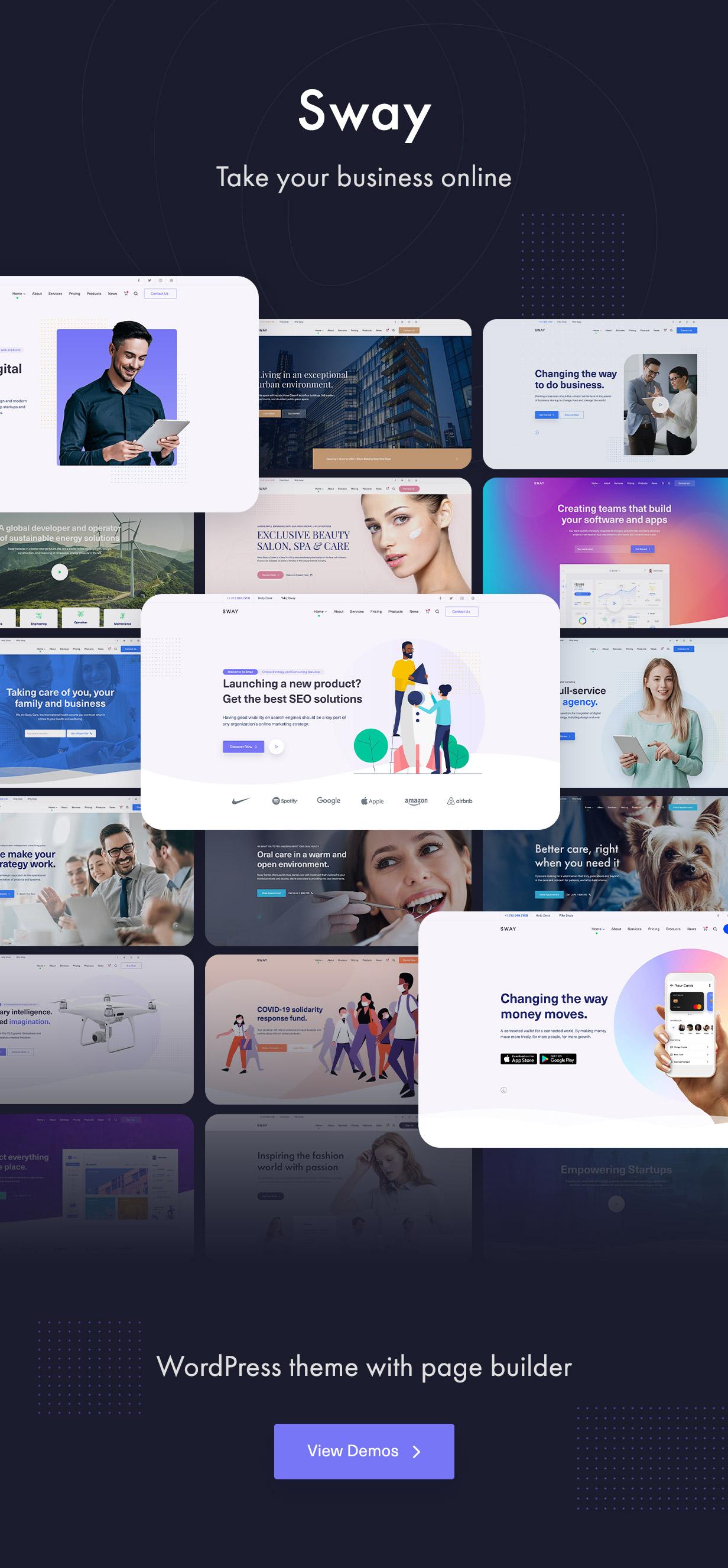 Sway - Multi-Purpose WordPress Theme with Page Builder - 1